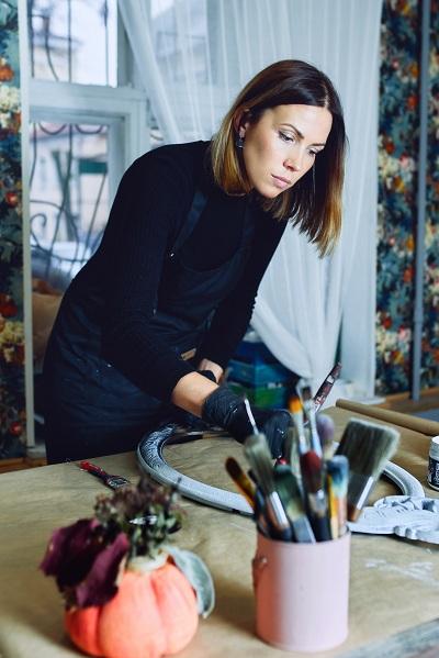 art mirror frame and designer